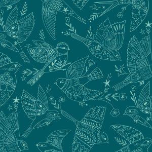 Fabric-Dashwood-Aviary-Birds-Teal